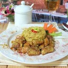Dosen Bistro Thai Chicken Curry mit Reis, Bambussprossen und Sojasprossen (400g)