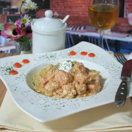 Dosen Bistro Lachs in Dill Soße mit Kartoffeln (400g)