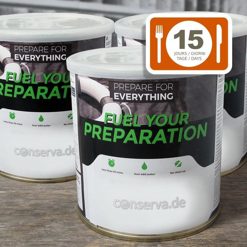 Scorte d'emergenza 15 giorni 'Fuel Your Preperation'
