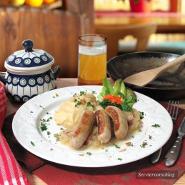 Dosen Bistro Bratwurst with Cabbage and Mashed Potatoes (400g)