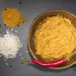 Curry Huhn mit Reis (100g)