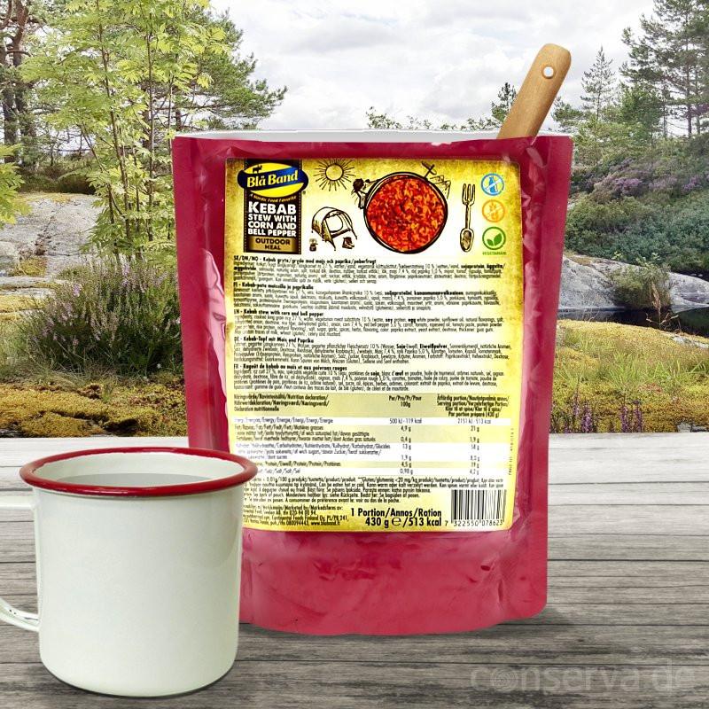 Blå Band Kebab Stew avec maïs et paprika