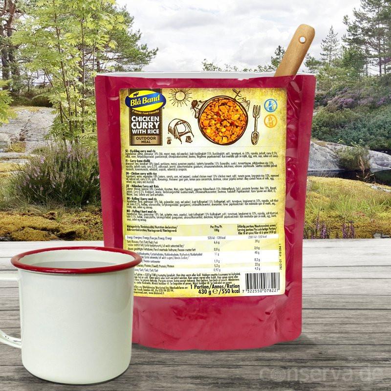 Blå Band Hühnchen Curry mit Reis
