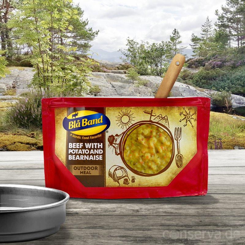 Blå Band Rindfleisch Steak mit Kartoffeln und Béarnaise