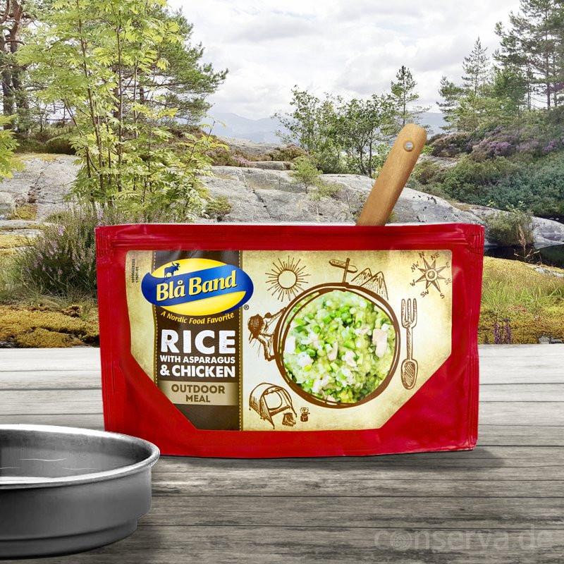 Blå BandRisotto au poulet  avec asperges