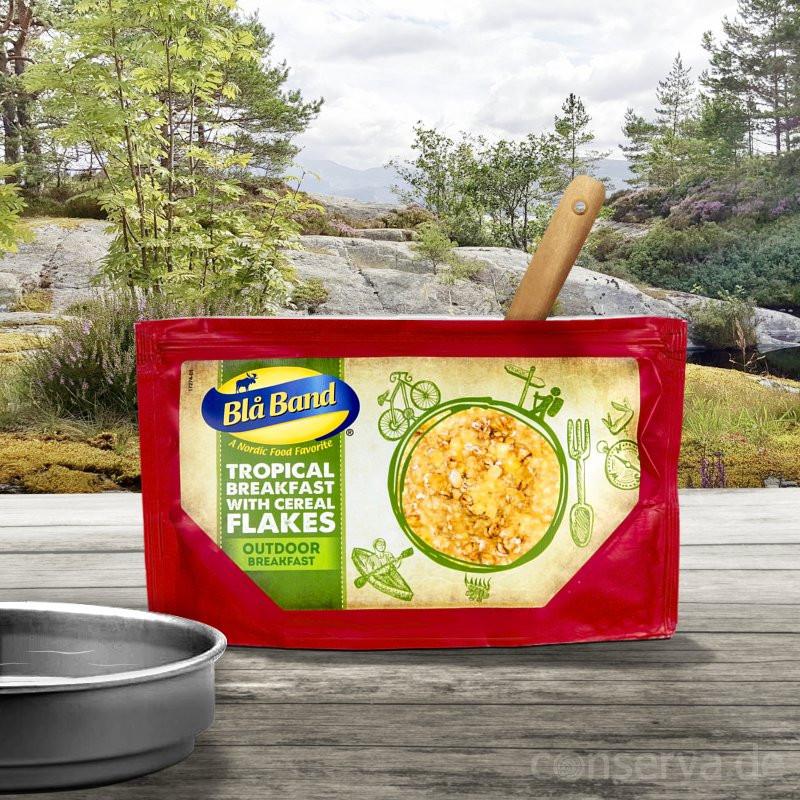Blå Band Tropical Breakfast avec des flocons de céréales