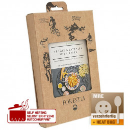 "Forestia Veggie ""Meatballs"" with pasta"
