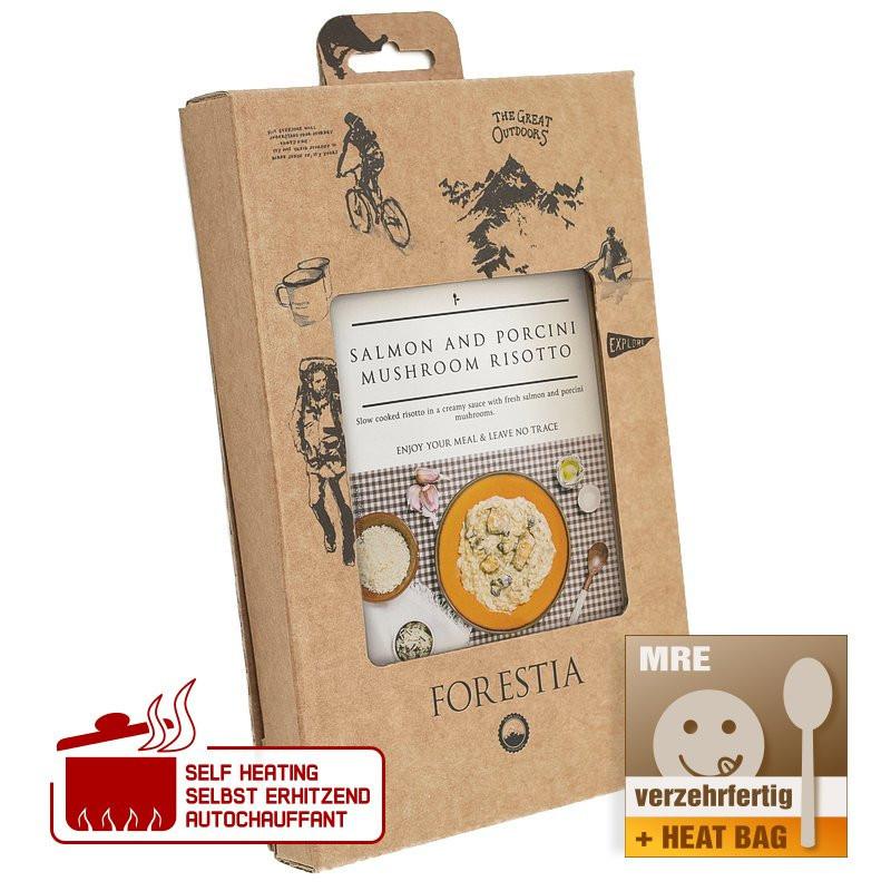 Forestia Salmon and mushroom risotto