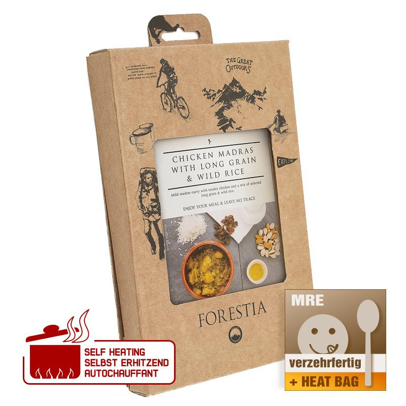 Forestia Poulet Madras au Grain Long et Riz Sauvage