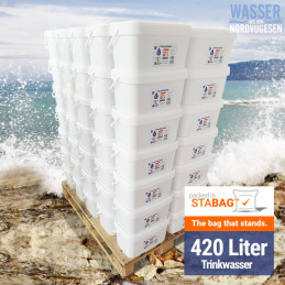 Emergency Food Wasser Palette 420L (70 Eimer x 6L)