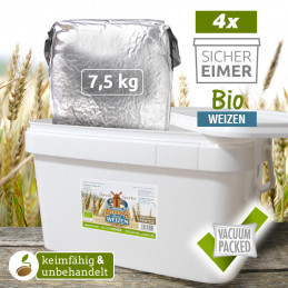4 x 7,5kg Organic Wheat...