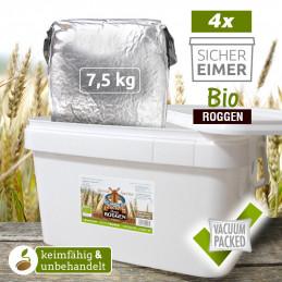 4 x 7,5kg Organic Rye...