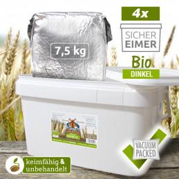 4 x 7,5kg Organic Spelt...