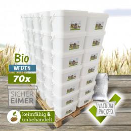 70 x 7,5kg Organic Wheat...