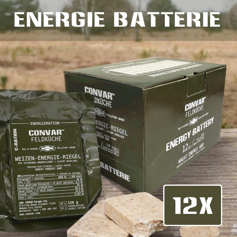 12 x CONVAR Feldküche Weizen-Energie-Riegel (120g)