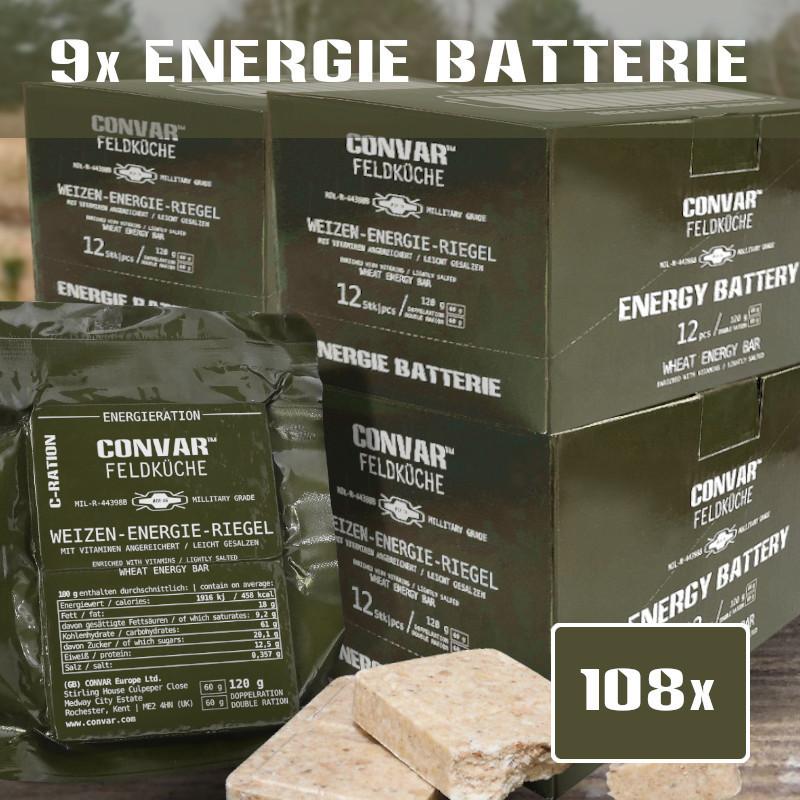 108 x CONVAR Feldküche barrette energetiche di grano (120g)