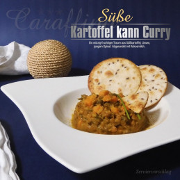 Caraffino Sweet potato and lentil curry (410g)