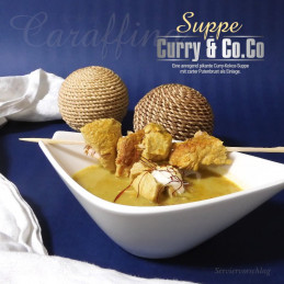Caraffino Curry coconut soup with turkey breast (380ml)