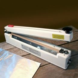 Folienschweißgerät mit Schneidemesser und Haltemagnet