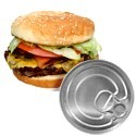 Canned burgers