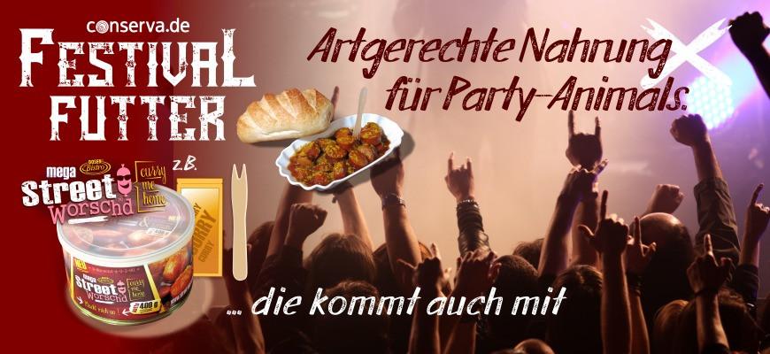 Festival-Futter für Party-Animals