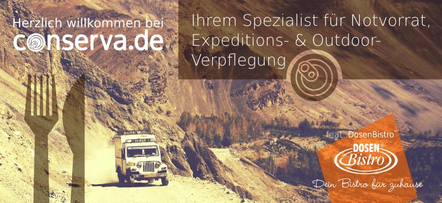 conserva.de - Spezialist für Notvorrat, Expeditions- & Otdoorverpflegung