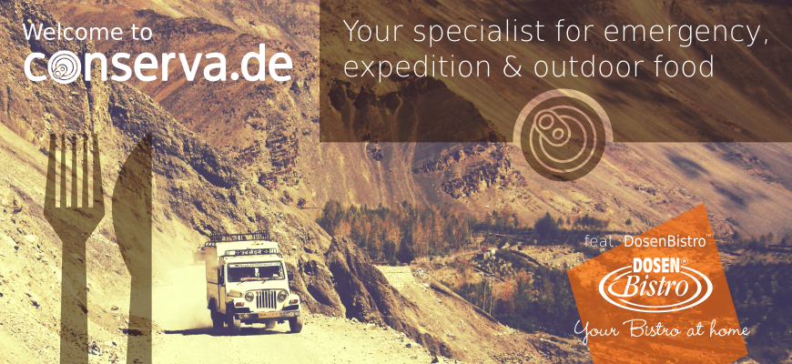 conserva.de - Specialist for emergency supplies, expedition & outdoor food supply
